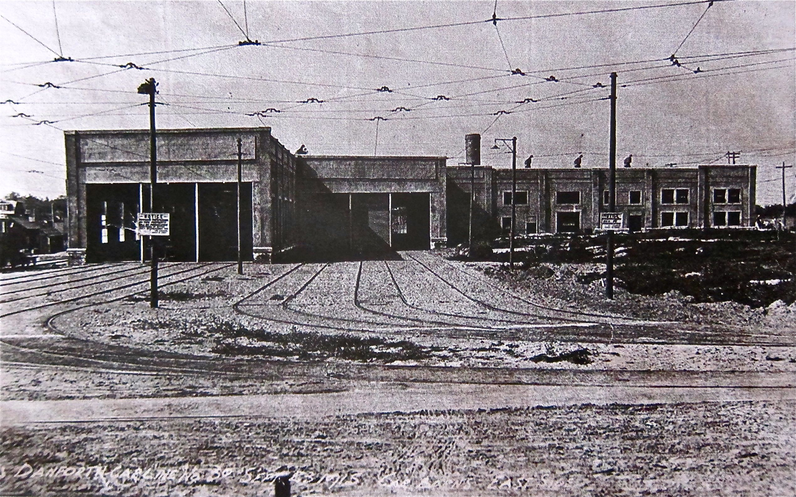 Danforth Carhouse on its opening day, Sept. 23, 1915. Nearly 1,000 TTC employees worked out of the facility at its peak. It was converted to a bus garage in 1967.
