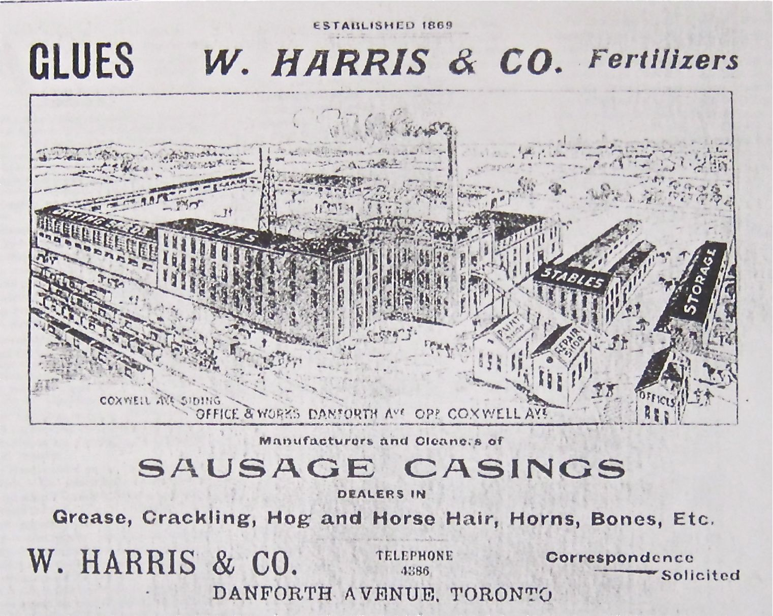 From 1894 to 1923, Danforth and Coxwell was home to a rendering plant that made products from horse corpses ... nasty as it was, it too was enough to attract a few residents because of the jobs.
