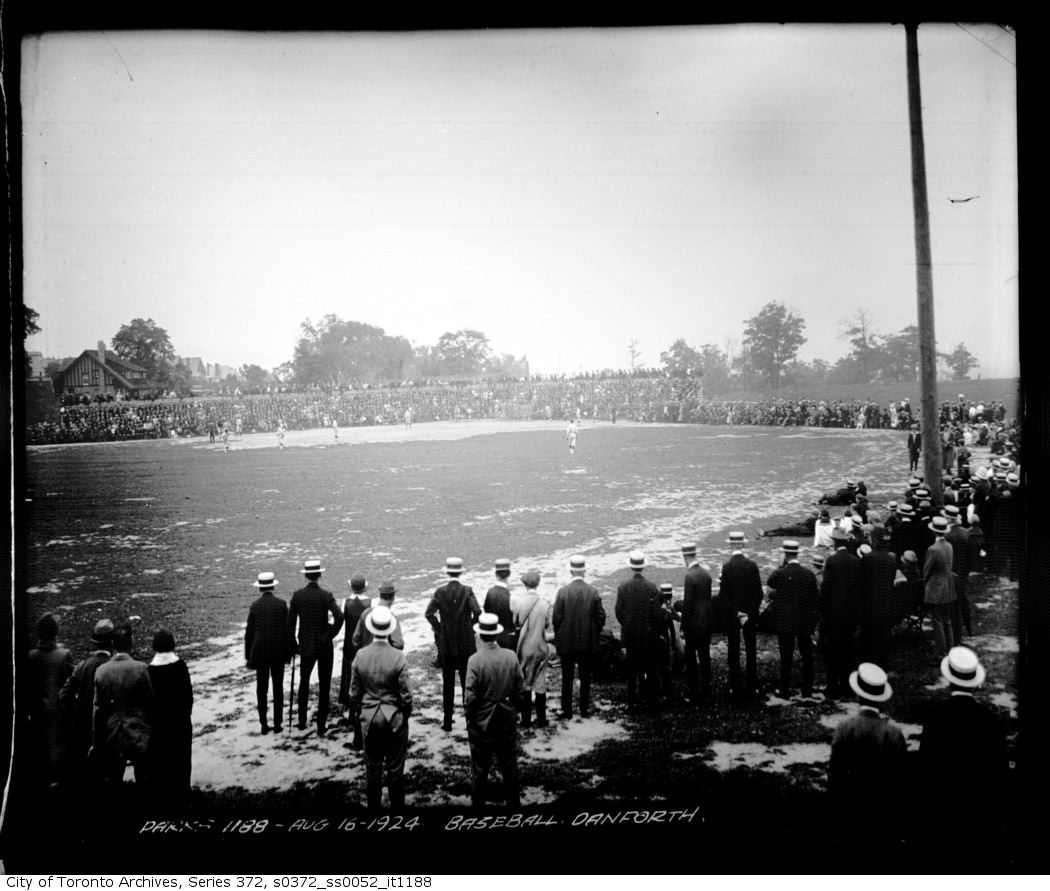 The block on the north side, west of Coxwell hosted baseball and circuses until it was developed in the mid-to-late 1920s. But the religious revival meetings were the biggest draw.