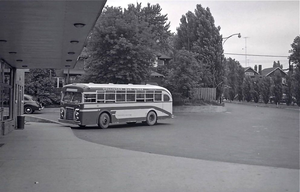 How the Hollinger bus terminal looked prior to construction of the subway station in the mid-1960s.