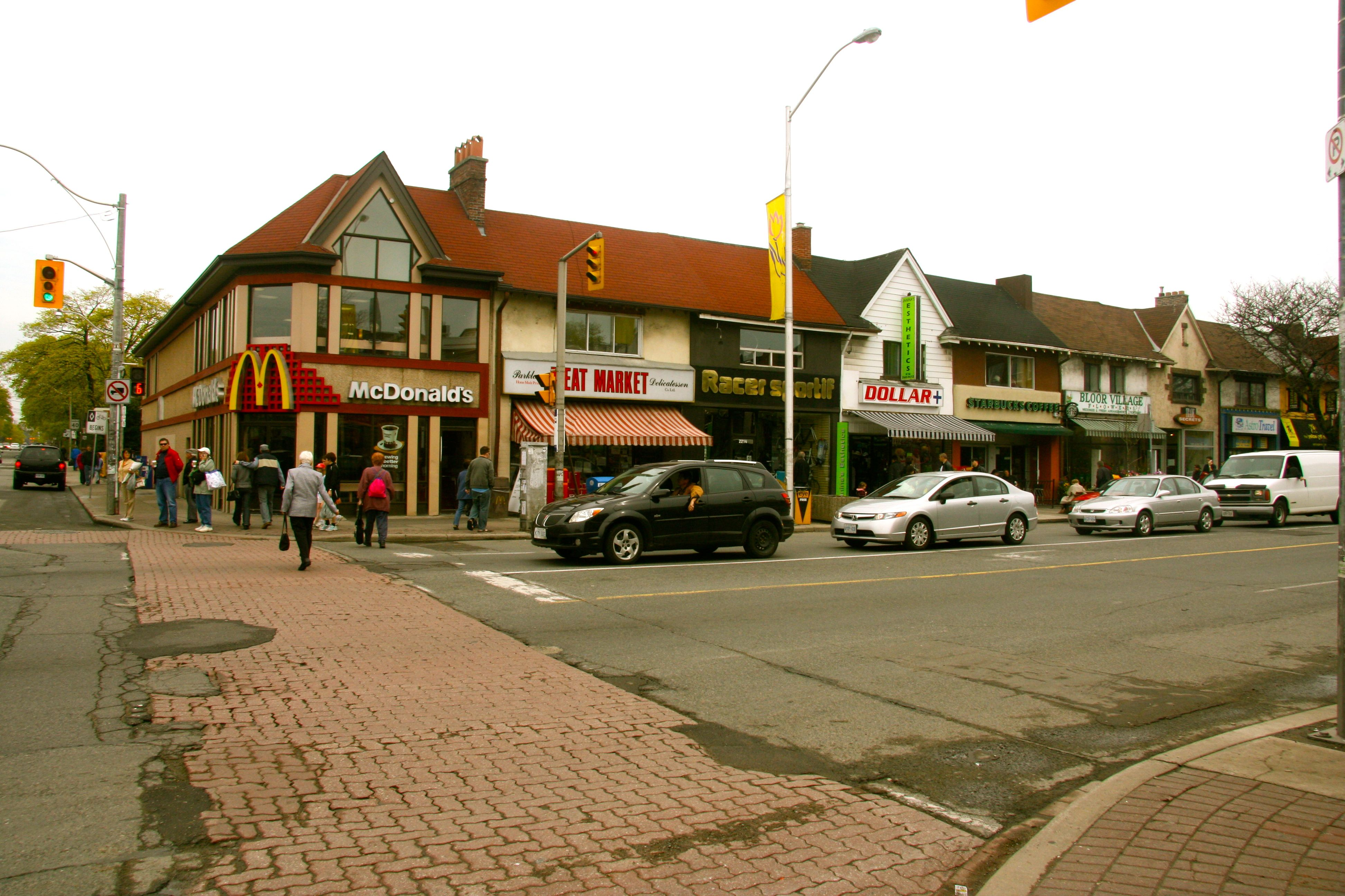This McDonalds is at Runnymede and Bloor, but I've included it for good reason, which you'll learn when we get to the corner of Hillingdon and Danforth