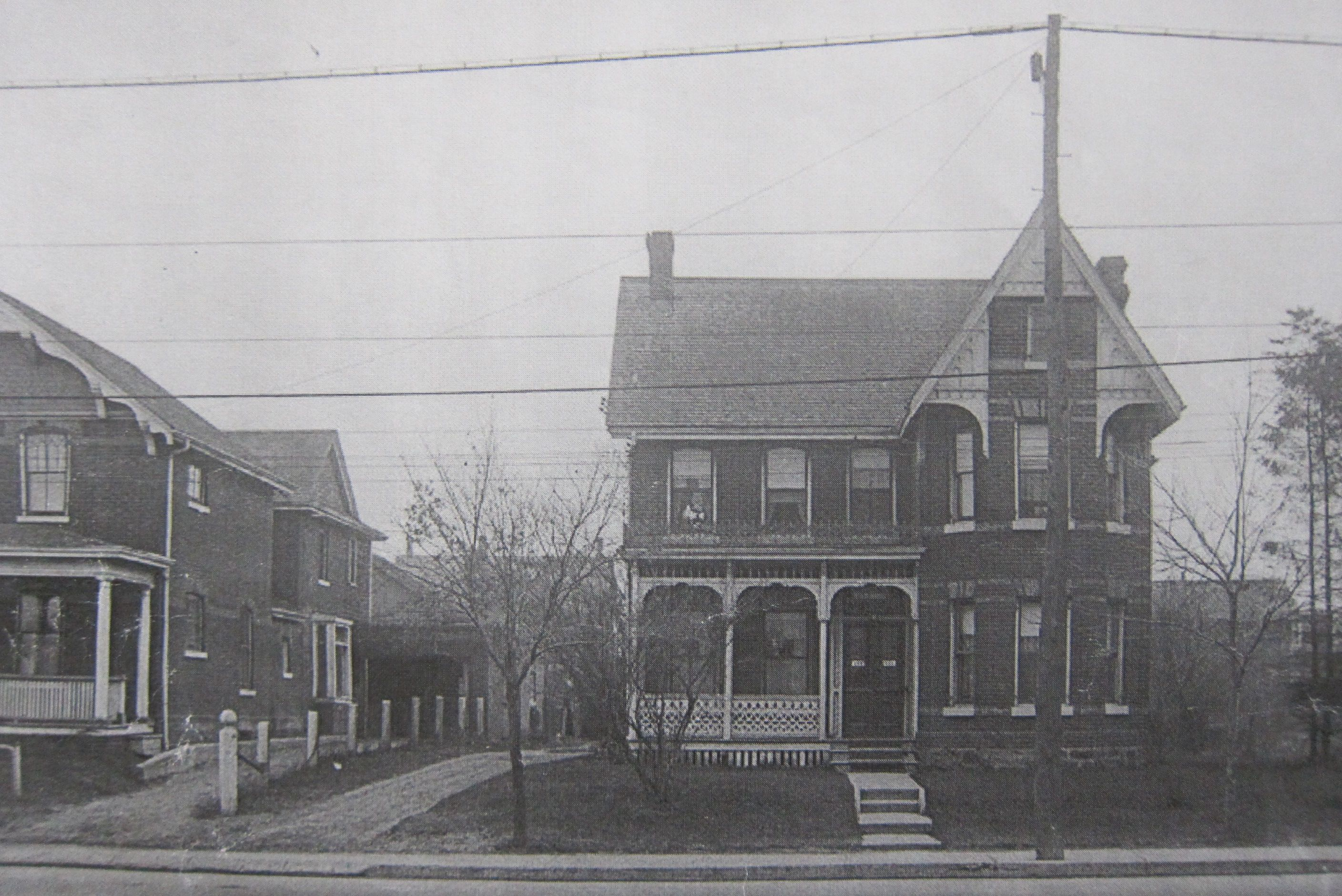 The western reaches of the connected towns of Coleman, Little York and East Toronto had houses like this one, which once sat on what is now the Sobey's parking lot. The towns grew up around the Grand Trunk station and yards east of Main Street.