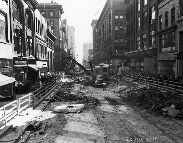 The generation that survived the Depression and helped win the Second World War, came home and made more sacrifices for future generations by ripping up Yonge Street for a subway we all need and need to relieve. TORONTO ARCHIVES PHOTO