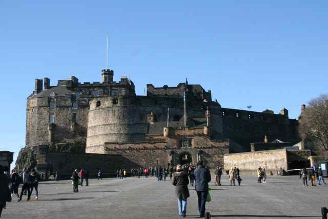About 2,000 visitors were expected on the gorgeous February day when I visited Edinburgh Castle. The thought of 10,000+ in peak season seems a tad scary.