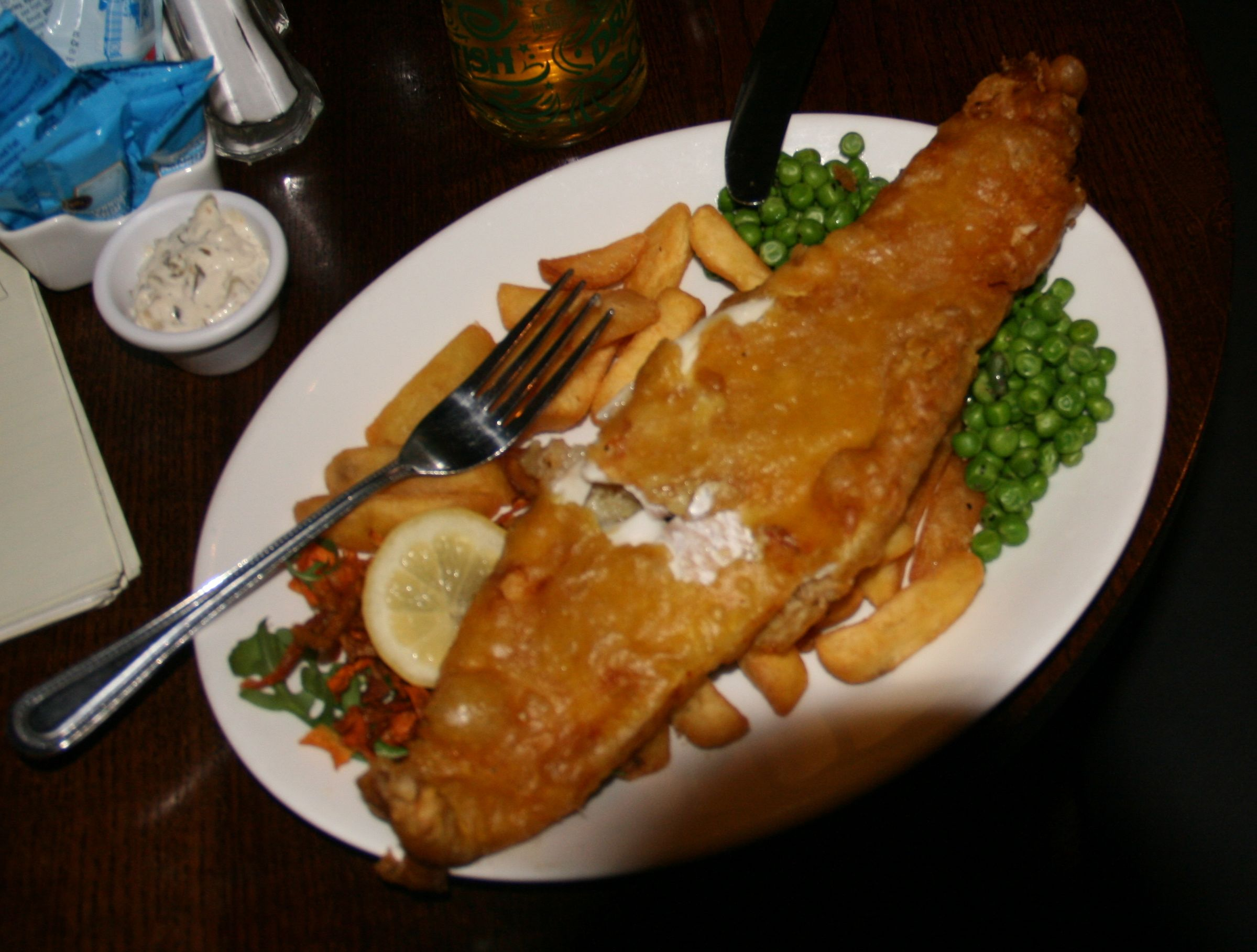 Fish and chips with a fine local ale at the Word's End on the Royal Mile is combines quality and quantity.